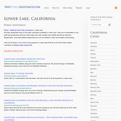 Lower Lake, CA Free Public Assistance