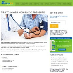 Tips To Lower High Blood Pressure - WiseRX