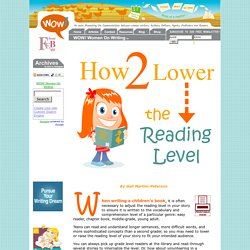 How To Lower the Reading Level of Your Story