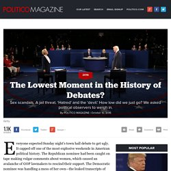 The Lowest Moment in the History of Debates?
