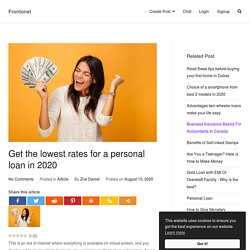 Get the lowest rates for a personal loan in 2020