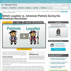 VID: British Loyalists v American Patriots
