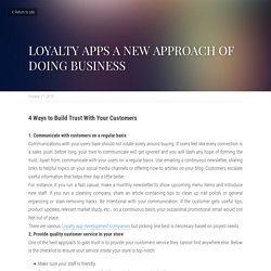 LOYALTY APPS A NEW APPROACH OF DOING BUSINESS