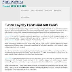 Loyalty Cards Printing, Gift Cards New Zealand – Plastic Card