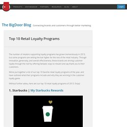 Top 10 Retail Loyalty Programs