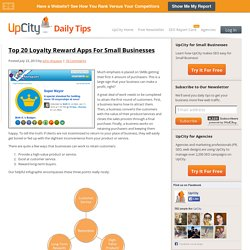 Top 20 Loyalty Reward Apps For Small Businesses
