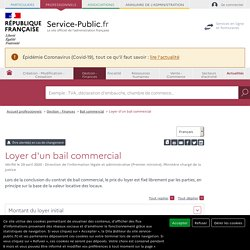 Loyer d'un bail commercial
