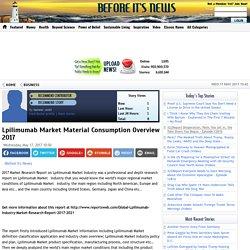 Lpilimumab Market Material Consumption Overview 2017