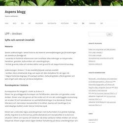 Aspens blogg