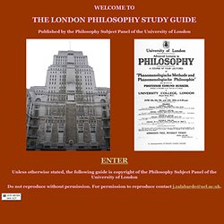 london philosophy study guide