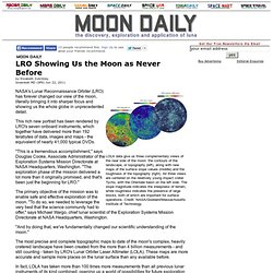 LRO Showing Us the Moon as Never Before