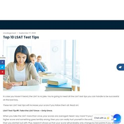 Tricks, Tips & Guidelines to Crack LSAT Exam