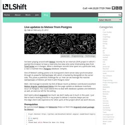 LShift - Live updates to Meteor from Postgres