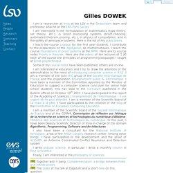 CNRS & ENS de Cachan : Gilles DOWEK