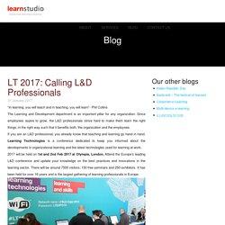 LT 2017: Calling L&D Professionals