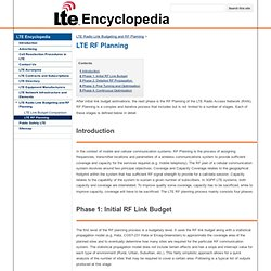LTE RF Planning - lteencyclopedia