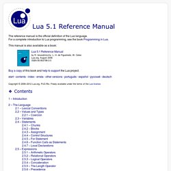 5.1 Reference Manual - contents
