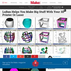 LuBan Helps You Make Big Stuff With Your 3D Printer Or Laser