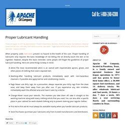 Proper Lubricant Handling