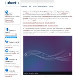 lubuntu | light Ubuntu for faster computing