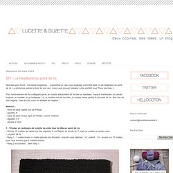 Lucette et Suzette: DIY - Le headband au point de riz