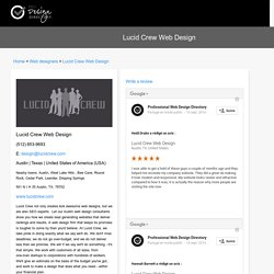 Lucid Crew Web Design - Google reviews