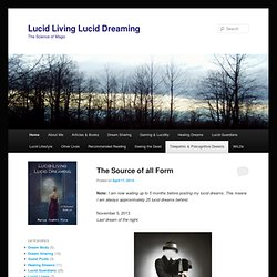 Lucid Living Lucid Dreaming | The Science of Magic