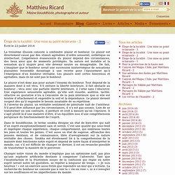 Éloge de la lucidité : Une mise au point éclairante - 3 - Matthieu Ricard