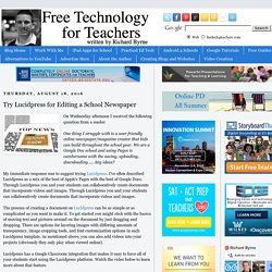 Try Lucidpress for Editing a School Newspaper
