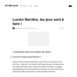 Lucien Barrière, les jeux sont à faire !