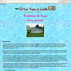 Les Trucs à Lucille - Entretien de l'eau d'une piscine