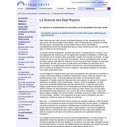 La Science des Sept Rayons