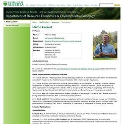 Marty Luckert - University of Alberta