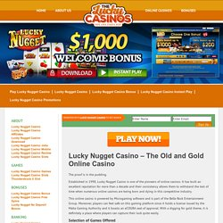 Lucky Nugget Casino – The Old and Gold Online Casino