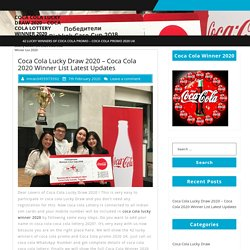 Coca Cola Lucky Draw 2020 - Coca Cola 2020 Winner List Latest Updates