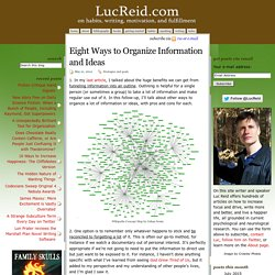 LucReid.com » Eight Ways to Organize Information and Ideas
