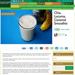 Chia, Lucuma, Coconut Smoothie