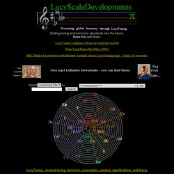 "LucyTuning*LucyScaleDevelopments*Pi tuning*LucyTuned Lullabies*John ""Longitude"" Harrison"