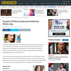 People's 15 Most Ludicrous Celebrity Write-Ups