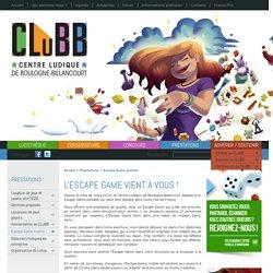 Escape Game mobile - Centre Ludique de Boulogne-Billancourt