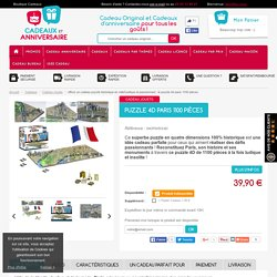 Puzzle 4D Paris 1100 Pièces : Cadeau Puzzle Ludique et Insolite sur Cadeaux et Anniversaire.com