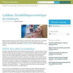 Ludobox : la ludothèque numérique en communs