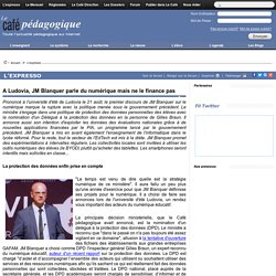 A Ludovia, JM Blanquer parle du numérique mais ne le finance pas