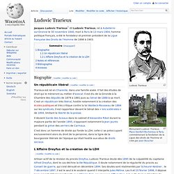 Ludovic Trarieux LDH 1898 à 1903