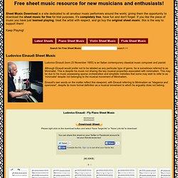 Ludovico Einaudi - Fly - Free Downloadable Sheet Music