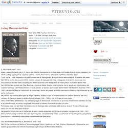 Ludwig Mies van der Rohe - Vitruvio.ch