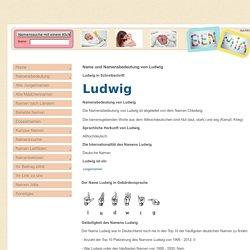 Der Name Ludwig und seine Namensbedeutung