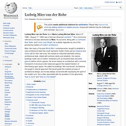 Ludwig Mies van der Rohe - Wikipedia, the free encyclopedia - Waterfox