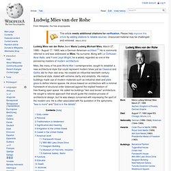 Ludwig Mies van der Rohe - Wikipedia, the free encyclopedia - Waterfox