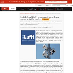 Lufft brings SHM31 laser-based snow depth sensor onto the market